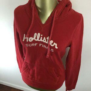 HOLLISTER Pullover Long Sleeve Red Hooded